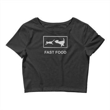 fast food funny Crop Top