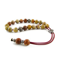 Komboloi, Worry Beads, Jasper Stone Beads Greek Komboloi, Handmade Greek Worry Beads, Christmas Gift Ideas