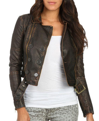 Distressed Belted Moto Jacket | Shop Jackets at Wet Seal