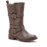 Sole Society Hilda Quilted Moto Boot