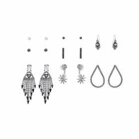 Mega Rhinestone Earrings Pack - Clear