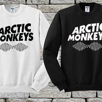 Arctic monkeys logo Black White sweater Sweatshirt Crewneck Men or Women Unisex