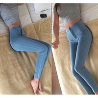 Women Fashion Slim Jeans Denim Pants = 5708474497