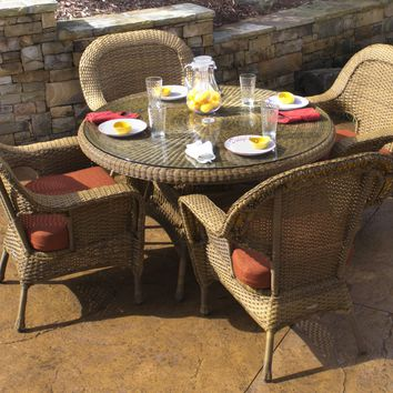 Tortuga Outdoors Resin Wicker Lexington Dining Table
