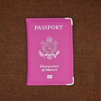 Travel Leather Covers for Passports USA America Passport Cover Women Girls US Passport Covers Passport Case Protector