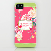 Princess Happily Ever After Modern Birds Floral  iPhone & iPod Case by Audrey Jeannes