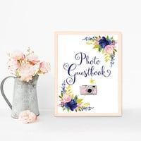 Photo guestbook sign, Wedding guest book sign, Printable wedding sign Camera sign, Instant photo guest book sign, Photo booth guestbook sign