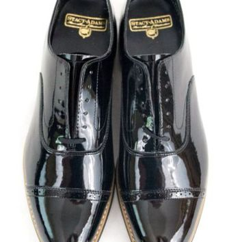 Stacy Adams Concord Oxford Shoe Black 10 D Patent Leather Tuxedo 11003