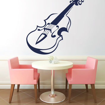 Violin Vinyl Decals Wall Sticker Art Design Living Room Cafe Modern Stylish Bedroom Nice Picture Home Decor Hall Interior ki612
