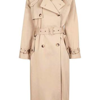 '80s Funnel Trench Coat