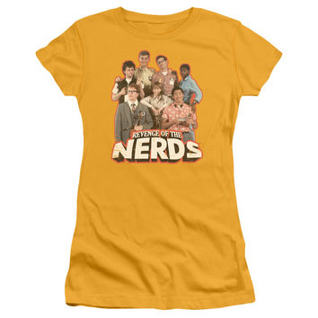 Revenge of the Nerds Group of Nerds Gold Womens Fine Jersey T-Shirt
