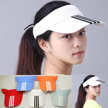 Hot New Arrival 7 Colors Adjustable Unisex Women Men Summer Outdoor Sun Visor Hat Sport Golf Baseball Tennis Hat Cap Gift