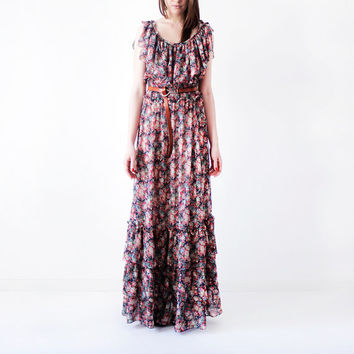 Summer dress/Maxi dress/Women dress/Floral dress/Country dress/Arizona dress/Bohemian dress/Festival dress/Romantic dress/Long dress