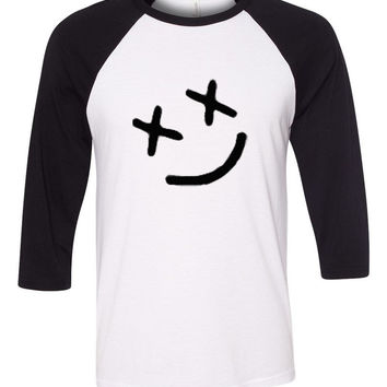 "Louis Tomlinson ""Smiley Face"" Tattoo Baseball Tee"