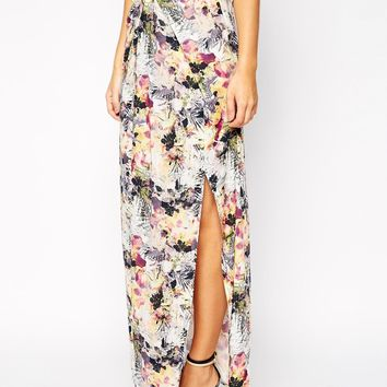 Supertrash Kimono Maxi Dress with Knot Front