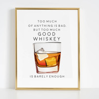 Whiskey Prints Bar Art Whiskey Posters Printable whiskey print Whiskey bar sign Whiskey party decor Party Decorations Whiskey Quote