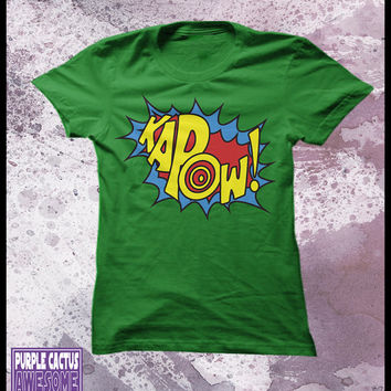 Kapow tshirt women's - sound effects t shirt