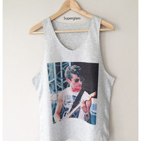 Alex Turner Singer Arctic Monkeys Band Indie Rock Singlet T-Shirt Vest Unisex Man Women