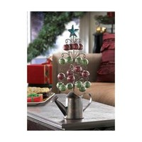 Watering Can Tabletop Christmas Tree