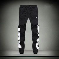 Adidas Women Men Fashion Casual Letter Print Pants Trousers Sweatpants