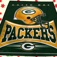 Bay Packers NFL Football Logo Funny Kids Cover Birthday Gift Christmas Quilts