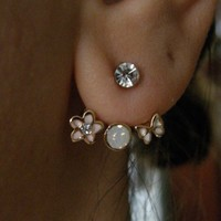 Different Earring - with Rhinestone... Use in different way