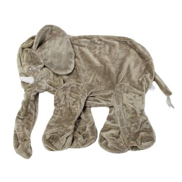 24 inch The Skin of Elephant Animal Kids Warm Soft plush Toy Baby Body Sleep Back Cushion Pillow Accompany Dolls Gift
