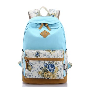Canvas Backpack College School Bag