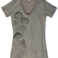 Mushrooms Recycled T-Shirt: Soul Flower Clothing