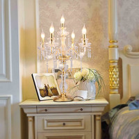led candle table decorations candle table lamp crystal candelabra lamps large Restaurant dining room bar table lamps bedroom