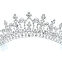 Rhinestone Crystal Bridal Wedding Pageant Princess Tiara Crown