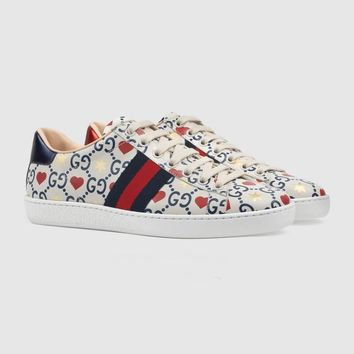 GUCCI Loving Double G Sports White Shoes