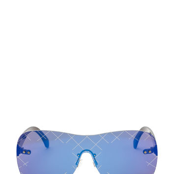 Grid Girl Rectangular Sunglasses