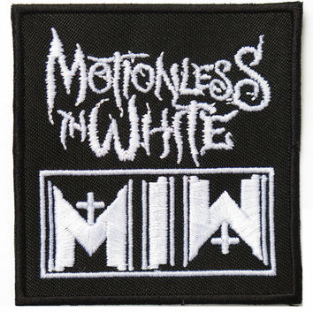 """MOTIONLESS IN WHITE MIW Embroidered Patch 2.9""""/7.5cm"""
