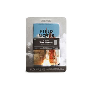 FIELD NOTES THREE MISSIONS SET OF THREE 48-PAGE MEMO BOOKS