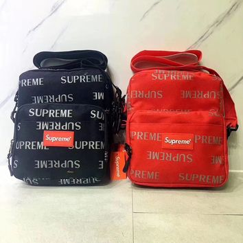 Supreme 3M reflective letters print single shoulder packet canvas bag