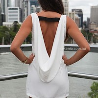 PLUNGE BACK MINI DRESS , DRESSES, TOPS, BOTTOMS, JACKETS & JUMPERS, ACCESSORIES, SALE, PRE ORDER, NEW ARRIVALS, PLAYSUIT, Australia, Queensland, Brisbane