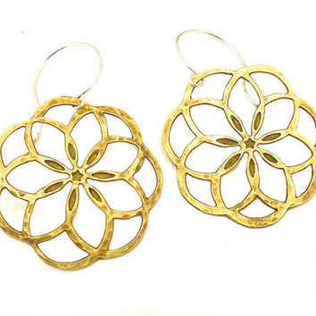 Flower of Life-A Dangle Earring