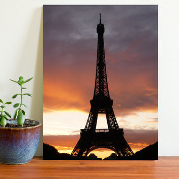 digital arts digital download photo art French art wall arts nature art nature photo on sale landscape photo sunset Eiffel Tower Paris art