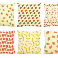 Fruits-100% Cotton Decorative Throw Pillows Cover Cushion Case VPLC_03