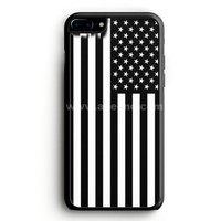 Black & White American Flag iPhone 7 Plus Case | aneend