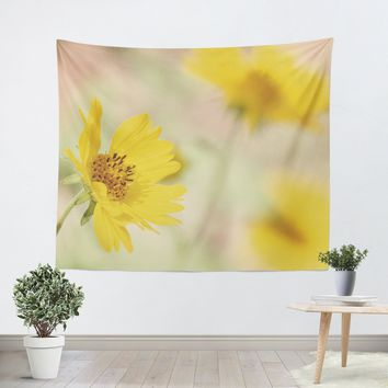 Abstract Flowers Tapestry