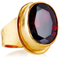 Red Oval Ring, Stone & Novelty Rings