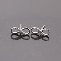 INFINITY stud earrings(silver)