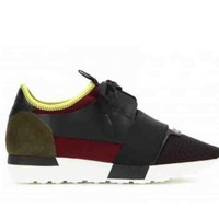 BaLenciaga Race Runners Stylish Women Men Casual Sport Sneaker Shoe I