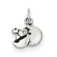 Sterling Silver Baby Turtle In Egg Charm