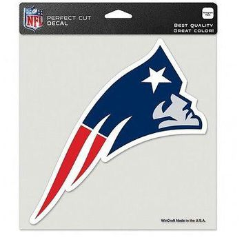 "NEW ENGLAND PATRIOTS 8""X8"" TEAM COLOR PERFECT CUT DECAL NEW OFFICIALLY LICENSED"