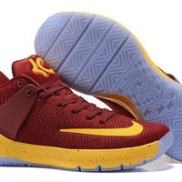 spbest Nike Zoom KD 5 Durant Knitting Basketball Shoes Wine Red 40-46