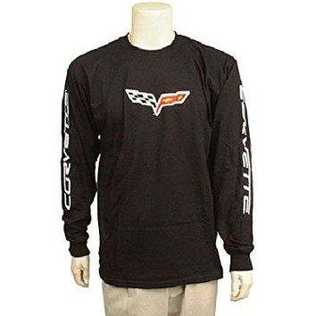 Corvette C6 Long-Sleeved T-Shirt Black X-Large