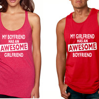 Awesome girlfriend Awesome boyfriend Valentine Tanktop